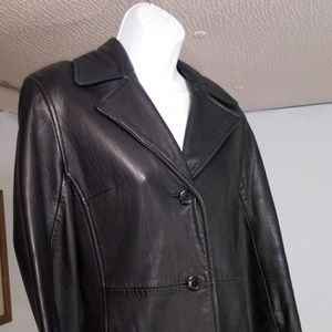 Ladies xs lamb leather jacket